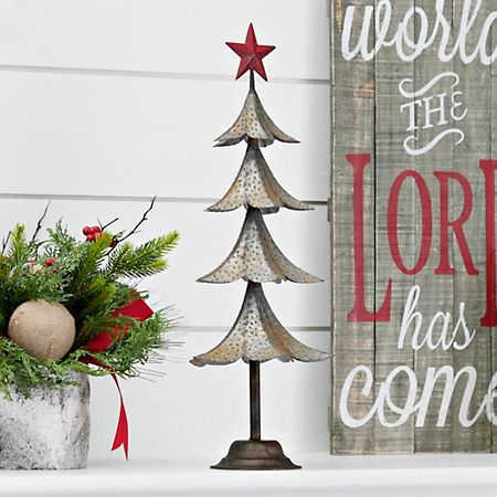 Red  Metal Hanging  Star Tree Christmas Tree Decorations
