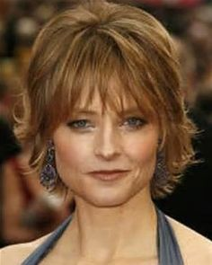 Jodie Foster Has A Long Layered Shaggy Type Haircut With All Hair ...