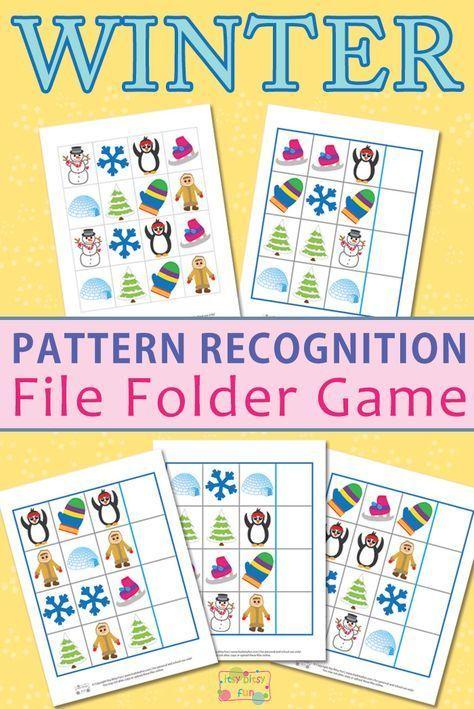 Winter Pattern Recognition File Folder Game Folder Games File