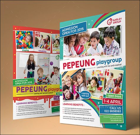 Preschool Advertising Ideas  Daycare Preschool Sales Flyer