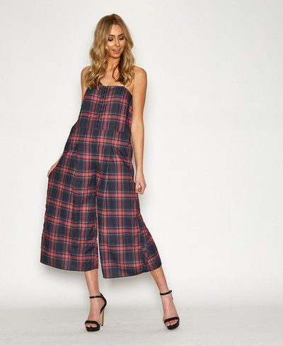 f603087cd07 The Fifth Let s Dance Red   Black Tartan Jumpsuit