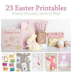 23 Easter Printables via the diy dreamer