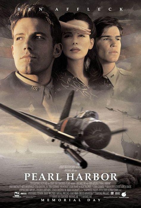 Pearl Harbor (2001) a film by Michael Bay + MOVIES + Ben Affleck + Kate Beckinsale + Josh Hartnett + William Lee Scott + Greg Zola + cinema + Action + Drama + Romance