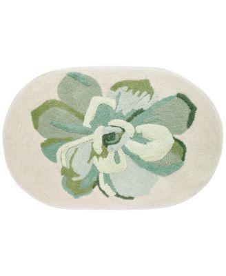 Canyon Cotton 20 X 30 Tufted Floral Bath Rug Macys Com Floral Bath Rugs Bath Rug Rugs