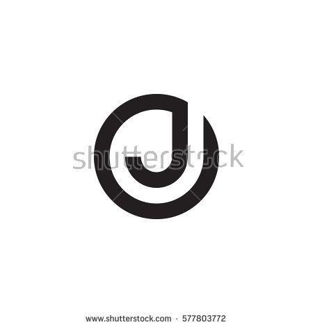 الحرف الأول شعار J داخل دائرة شكل Oj Jo J داخل O حرف صغير أسود مستدير Logo Design Video Branding Design Logo Letter Logo