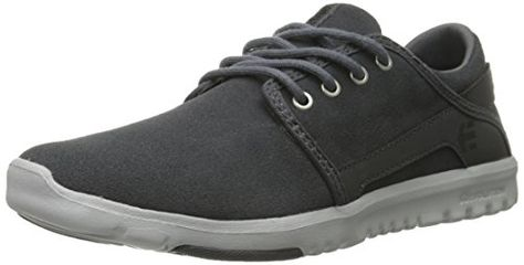 Etnies Men's Scout Lace Up, Black/Dark Grey, 7 D US: Lace-up sneaker  featuring gored inset on perforated heel Exposed STI Evolution Foam… |  Pinterest