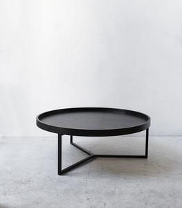Tivoli Round Coffee Table 100cmd Black Coffee Table Round