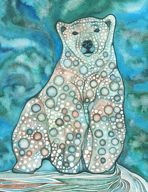 8.5 x 11 print  Ursus maritimus literally means Sea Bear. The inuit know him as the the ever-wandering one. aka Polar Bear, Ice Bear, White Bear, Nanuq, Isbjorn, Beliy medved, Lord of the Arctic, and the most majestic: White Sea Deer.  I have a profound love and appreciation for the natural world and I am honoured to share its beauty with you.  xo Tamara