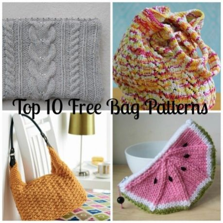 Top 10 Free Knitted Bag Patterns Knitting Crochet Things
