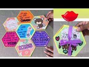 Tarjeta Hexagonal Para Regalar Youtube Tarjetas Hechas A Mano Creativas Tarjetas Creativas Tarjetas A Mano De Amor