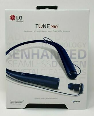 Lg Tone Pro Hbs 780 Bluetooth Stereo Headset Matte Blue New In Box 815425020027 Ebay Bluetooth Stereo Headset Headset Stereo