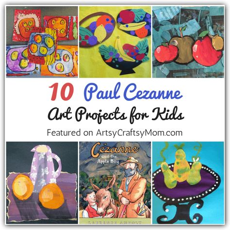 The artist Cezanne studied his subjects extensively, and these Paul Cezanne art projects for kids are a great way to be inspired by him. They'll never look at an apple the same way again! Art History Projects For Kids, School Art Projects, Cezanne Art, Paul Cezanne, Kids Art Class, Art For Kids, Montessori Art, Montessori Elementary, 3rd Grade Art