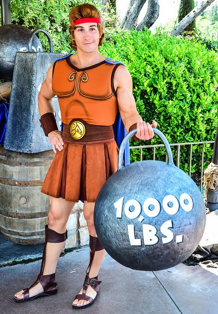 Disney Character Cosplay Hercules lifting an impressive amount of weight at Opa! A Celebration of Greece (May Photo by
