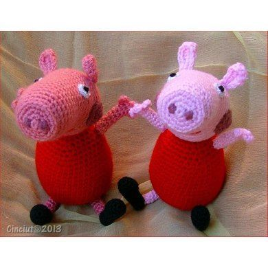 Peppa Pig Crochê Amigurumi - Top 10 Peppa Pig Amigurumi - YouTube | 390x390