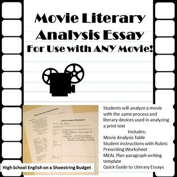 Movie Literary Analysi Essay For Use With Any Teaching Writing Analysis Film Essays