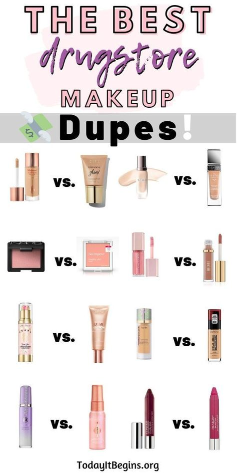 Best Drugstore Dupes for High-End Makeup - Today It . Best Drugstore Dupes for High-End Makeup - Today It . Best Foundation Makeup, Foundation Dupes, Best Full Coverage Foundation, Best Foundation For Dry Skin, Foundation Application, Mac Velvet Teddy, Mac Makeup, Makeup Kit, Best Highlighter Makeup