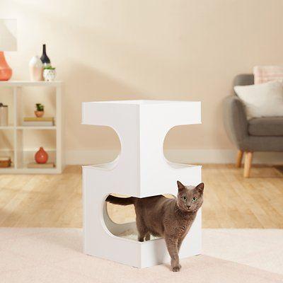 Frisco 28 In Modern Cat Tree Condo Gray Chewy Com In 2020 Modern Cat Tree Modern Cat Cat Tree Condo