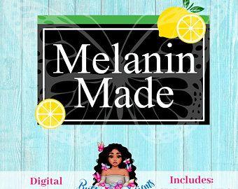 Melanin Poppin Svg Etsy African American Fashion Fashion Art Illustration Illustration Art