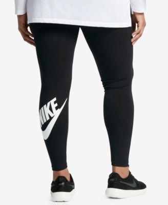 8751cd56 Nike Plus Size Leg-a-See Dri-fit Logo Leggings - Black 1X
