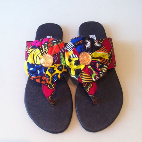 65aac2a2602b0e African Ankara Slippers by AFRICANCONNECTIONZ on Etsy