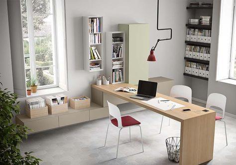 Scrivania Moderna Design : Scrivania moderna per soggiorno libreria ufficio bassa librerie