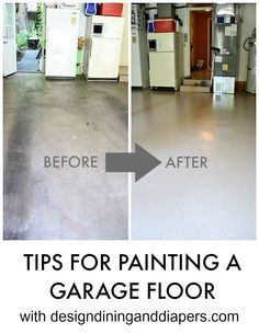 Before and after garage floor using quickcrete garage floor epoxy how to paint a garage floor tips on an easy diy painting project solutioingenieria Images