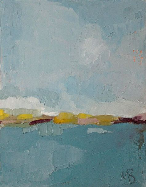 Original Abstract Landscape Painting, Oil On Canvas