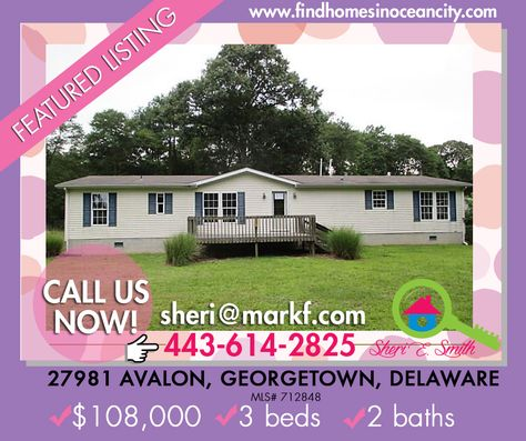 #Delaware #Home #ForSale Featured Listing: 27981 Avalon, Georgetown,