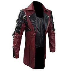 Leather Trench Coat Mens, Gothic Trench Coat, Leather Jackets, Men's Leather, Sheep Leather, Leather Design, Fur Coat, Steampunk Men, Steampunk Fashion