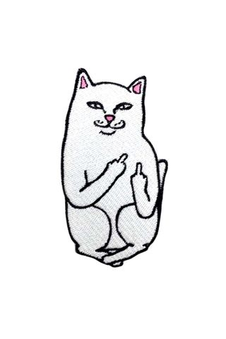 Standard Goods Patch White Cat Middle Finger