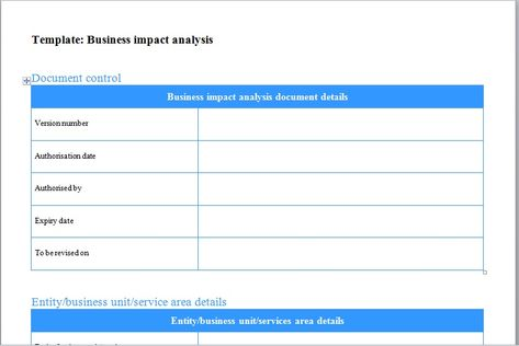 business impact analysis template Excel Templates Pinterest - payslip template free download