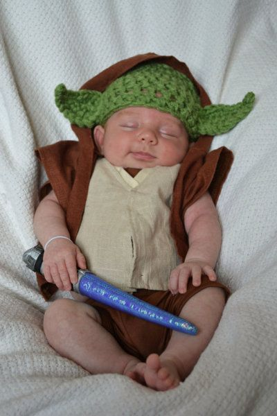 New moms take a look at this adorable crochet Disney Yoda outfit for your new baby Padawan from KreativeKroshay. Whether you have a baby boy or baby girl, you will love these Disney baby outfits from Etsy.