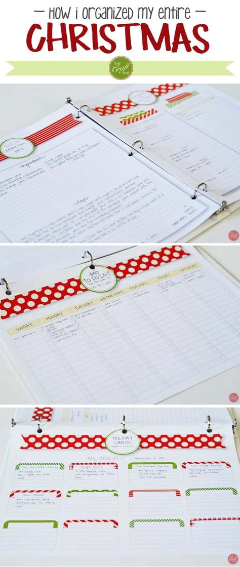 how i organized my entire christmas - fabulous planner ! | www.livecrafteat.com
