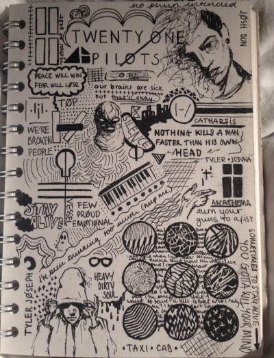 twenty one pilots fans Dark Art Drawings, Cool Drawings, Drawing Sketches, Indie Drawings, Twenty One Pilots Art, Twenty One Pilots Wallpaper, Kunstjournal Inspiration, Art Journal Inspiration, Pilot Tattoo