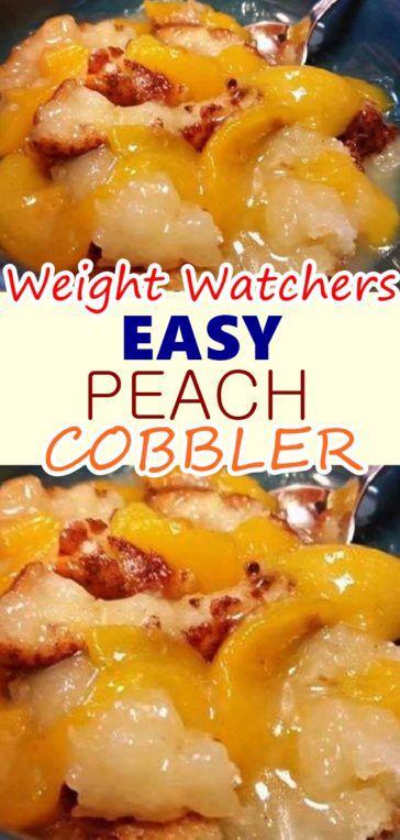 WEIGHT WATCHER EASY PEACH COBBLER – Skinny Recipes
