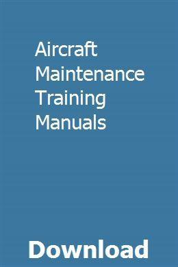 Aircraft Maintenance Training Manuals Aircraft Maintenance Daihatsu Maintenance