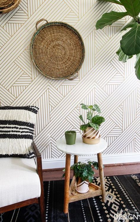 Be bold with fearless wallpaper! | DeeplySouthernHome