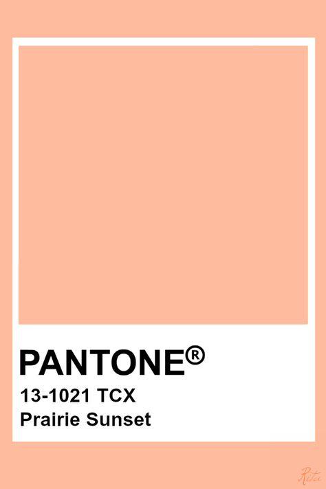 Pantone Prairie Sunset