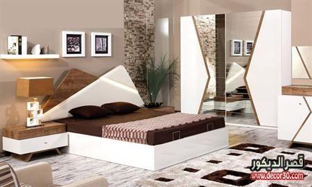 صور اوض نوم للعرسان كاملة بالدولاب قصر الديكور Modern Bedroom Bedroom Bed Design Bedroom Furniture Design
