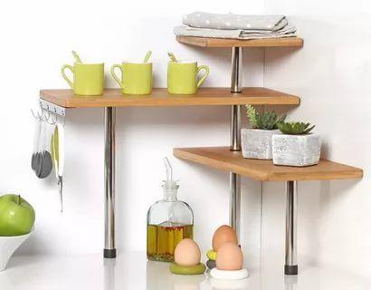 23 Stunningly Corner Shelf Ideas Corner Shelves Kitchen Decor