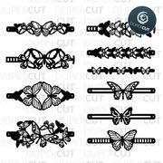 Get Leather Bracelets Svg – Vol Ii Bundle – Cutting Templates PNG