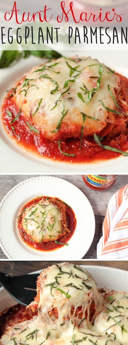 These Eggplant Parmesan Stacks are so easy to make and absolutely delicious! simmeredintradition ragu ad