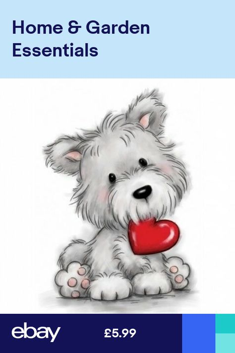 Wild Rose Studio Dog with Heart Clear Stamp ❤️