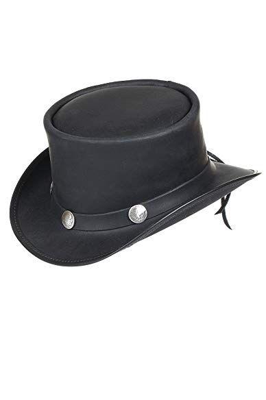 04235ee96 Steampunk El Dorado Leather Top Hat with Buffalo Nickels Review ...