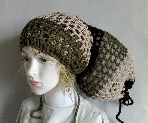 854623622 Slouchy Beanie Cap Locks In Hair For Naturally Curly Hair Kinky ...