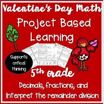 Pbl Decimals Interpret The Remainder Fraction Valentines Day