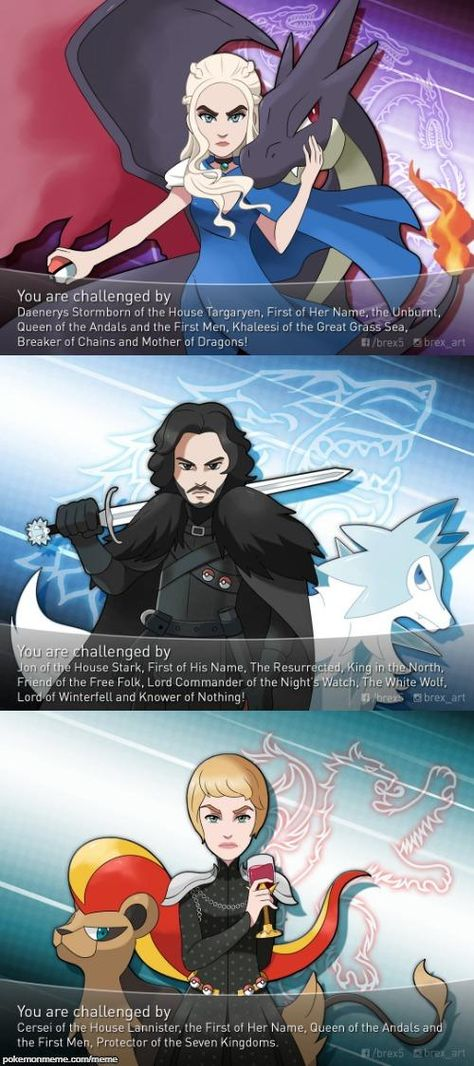 Top 3 Leaders Of Game Of Thrones Pokemon Game Of Thrones