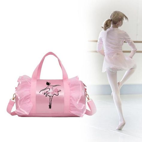 Girl's Embroidered Sequined Ballerina Shoulder Bag (Available in 3 Styles)
