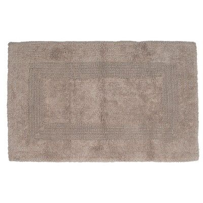 Tufted 100 Cotton Bath Mat Set Taupe Brown Yorkshire Home