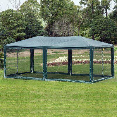 Outsunny 10 Ft W X 20 Ft D Metal Party Tent Party Tent Gazebo Canopy Patio Gazebo